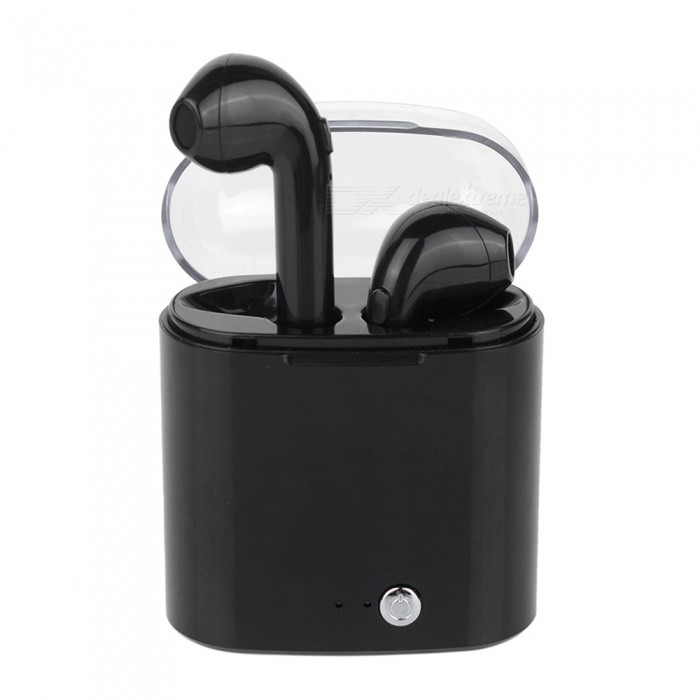 610207574e4 i7s TWS Mini Wireless Bluetooth Earphone Stereo Earbuds Headsets for  Android, IPHONE - Black