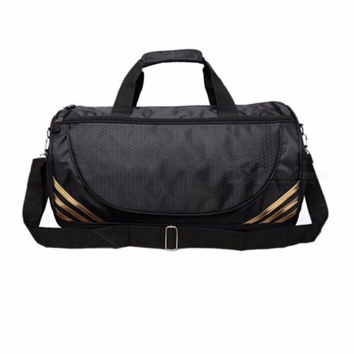 Universal-Nylon-Travel-Bag-Portable-Large-Travel-Tote-Bag-Zipper-Luggage-Travel-Duffle-Bag-Black