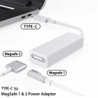 Cwxuan Magsafe to USB-C Converter, AirFish USB Type C to Magsafe 1 and Magsafe 2 Power Adapter Connector Cable