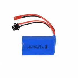 6.4V 750mAh Li-ion Battery, JST+SM-3P 16500*2 Rechargable Battery for Remote Control Car Boat Drone - Blue