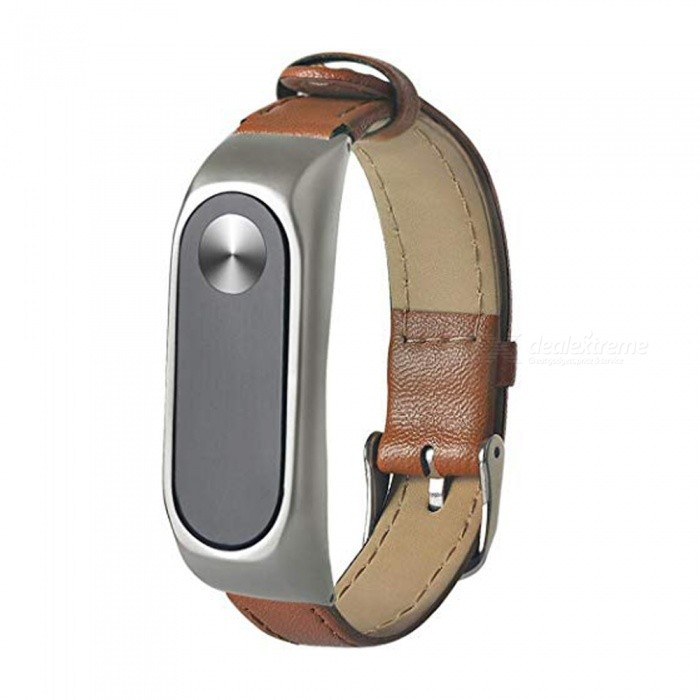 Replacement Business Leather Wristband Strap for Xiaomi Mi Band 2 Watch Bracelet