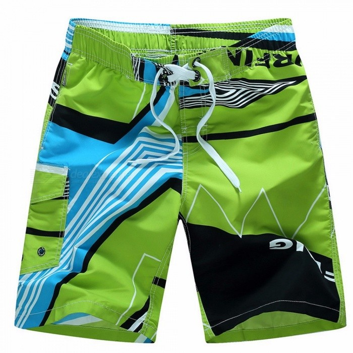 Mens Ocean Beach Print Swim Shorts Short Pants Size M6XL, Quick-Drying Summer Surf Board Loose Beach Shorts