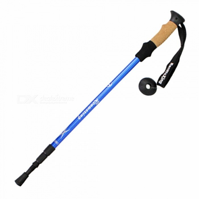 Outdoor Portable Hiking Camping Poles Trekking Pole Stick - Blue