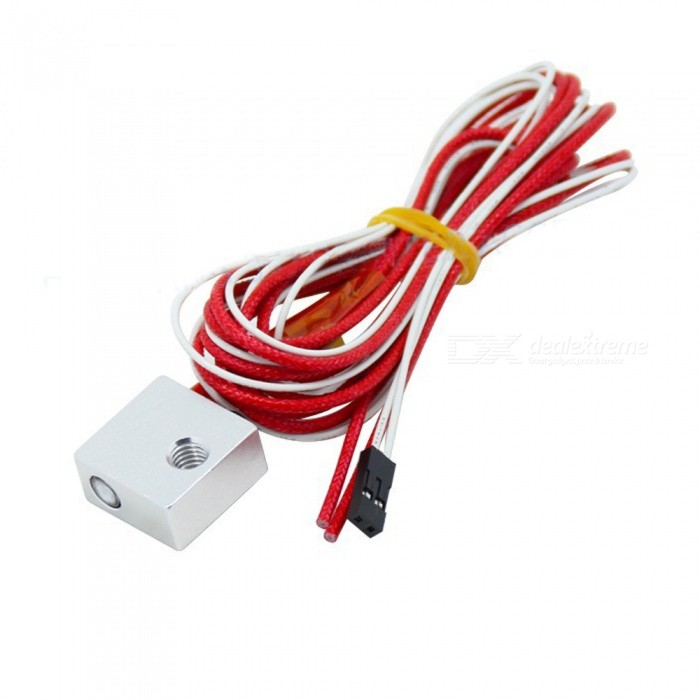 MK7/MK8 Heating Aluminum Block With Brass Thermistor and Thermocouple For 3D Printer
