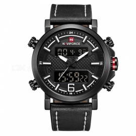NAVIFORCE-9135-Mens-Sports-Leather-Wrist-Strap-Analog-Digital-Quartz-Watch-(With-Gift-Box)