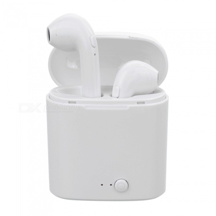 i7s TWS Mini Bluetooth Earphone Wireless Headset with Charging Box Base - White
