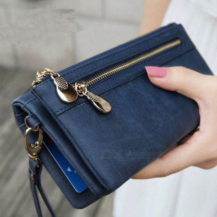 New Design Women PU Wallet Long Woman Zipper Wallets Purse Card Holder Multi-card Bit Coin Bag