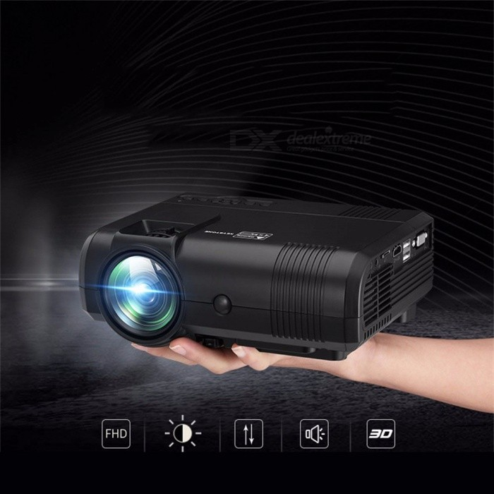 L8 New Smart Home Cinema Projector For Mobile Phone USB 1000 Lumens Mini Led Portable Projector Full Hd black