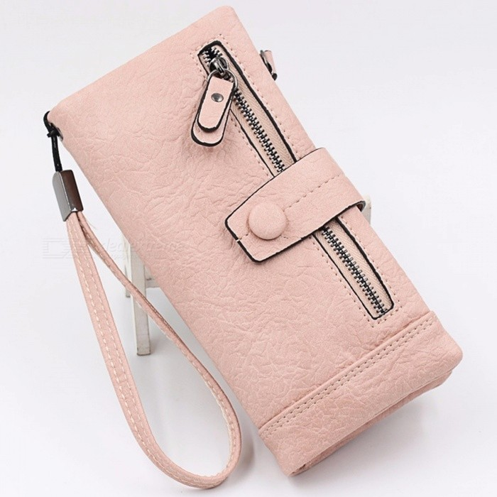 2018 New Seven Color Women Wallet Fashion Long Zipper Hasp Clutch Wallets Ms Cow Leather Multi-card Bit Coin Purse