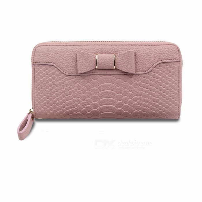 Korean-Version-Of-Women-s-Long-Section-Wallet-Women-S-Cute-Bowknot-Student-Large-Capacity-Mobile-Phone-Purse-Beige