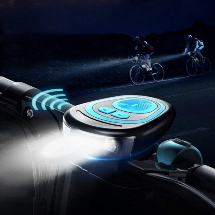 Multifunction Bicycle Bell USB Charging Bike Horn Light Headlight, Cycling Ultra Bright Electric 120db Horn Bike Bell