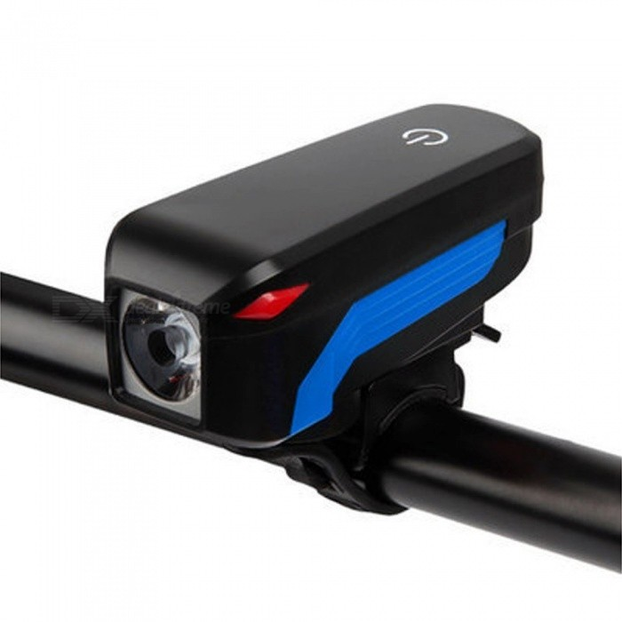 Bicycle Horn Front Light, 350LM 2000mAh Loudly Waterproof USB Charging Handlebar Horn Lamp For MTB Road Bike