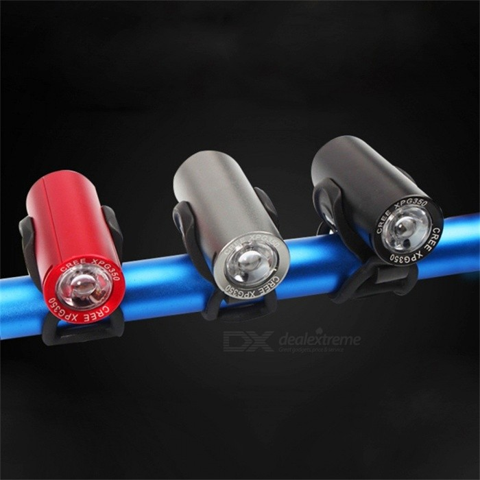 USB Rechargeable Bike Light, Front Handlebar Cycling LED Light, Battery Powered Flashlight Torch Headlight