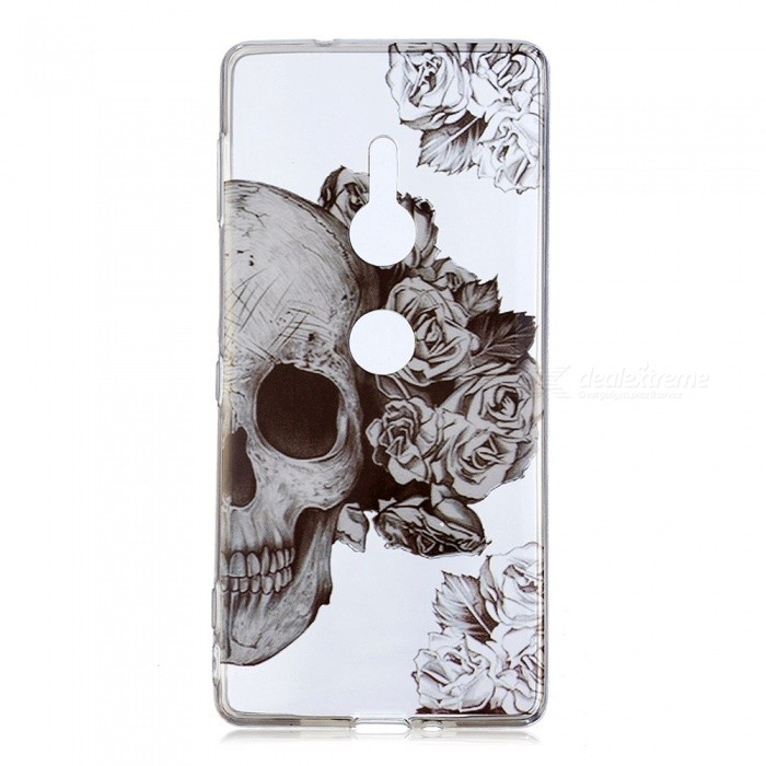 ESAMACT Skull Pattern Protective TPU Back Case for SONY xz2