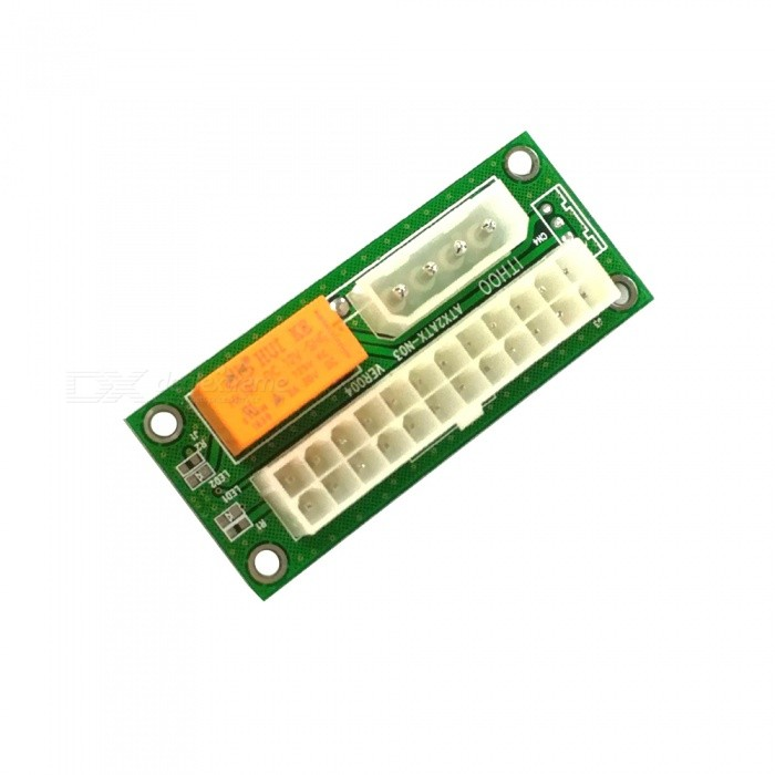 Buy 24PIN Power Supply Dual Start Card with Litecoins with Free Shipping on Gipsybee.com