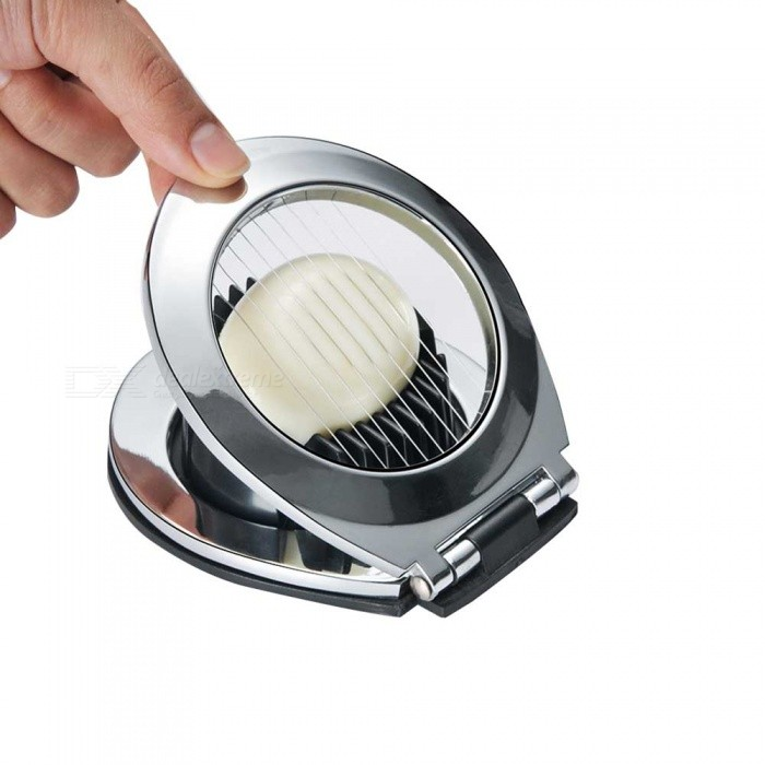 2-in-1 Alloy Cooked Egg Cutter, Egg Flower Slicer