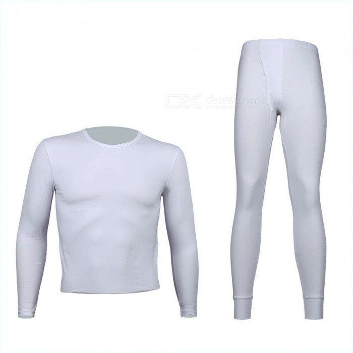 Thin Underwear Men's Long Johns Men Autumn Winter Round Neck Long Sleeve Tops Trousers Underwear Set