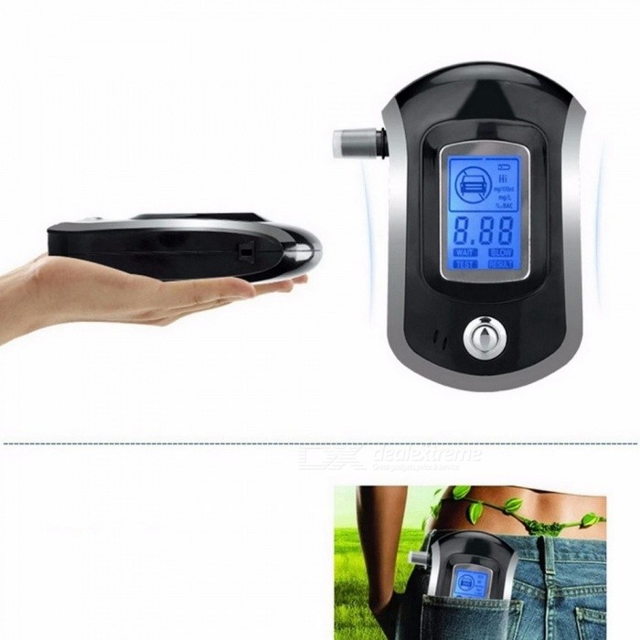 Professional Digital Breath Alcohol Tester Breathalyzer With LCD Dispaly With 5 Mouthpieces Police Alcohol Breathalyzer