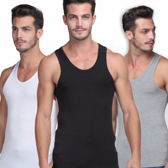 Mens Elastic Modal Tight Solid Vest Summer Slim Fit Sleeveless Tank Top Clothes For Casual Sports Fitness