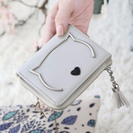 Cute-Cat-Anime-PU-Leather-Two-fold-Slim-Mini-Wallet-Women-Small-Clutch-Coin-Purse-Card-Holder-Tassel-Chain-Short-Wallet