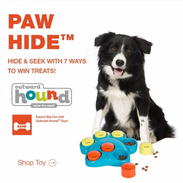 Dog Toys Interactive Dog Baby Pet Dog Training Toys Roller Paw Puzzle Slowing-Eating Dogs Pets Toys 20.5*4