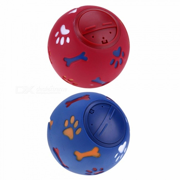 7.5/11 Cm Dog Pet Toys Leakage Food Ball Pure Natural Imported Rubber Dog Transparent Teeth To Bite