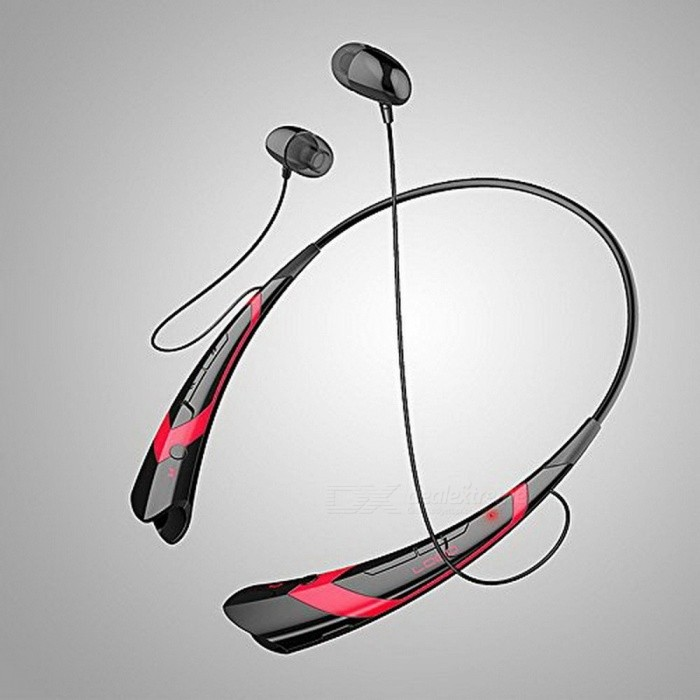 HBS-760 Universal Wireless Bluetooth Headphone, Bluetooth V4.0 Portable Headset Vibration Earphone Red