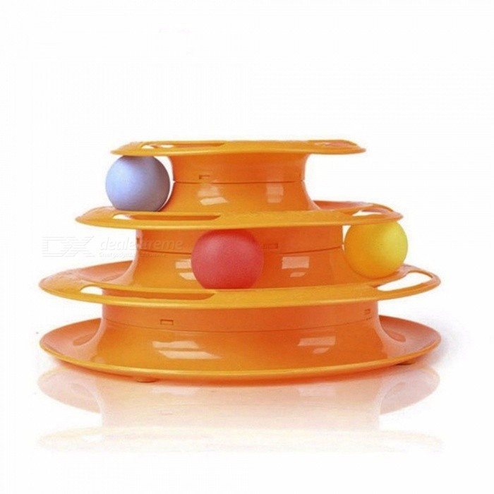 Top Quality Funny Cat Pet Toy, Intelligence Triple Play Disc Cat Toy Ball For Pets Gold for sale for the best price on Gipsybee.com.