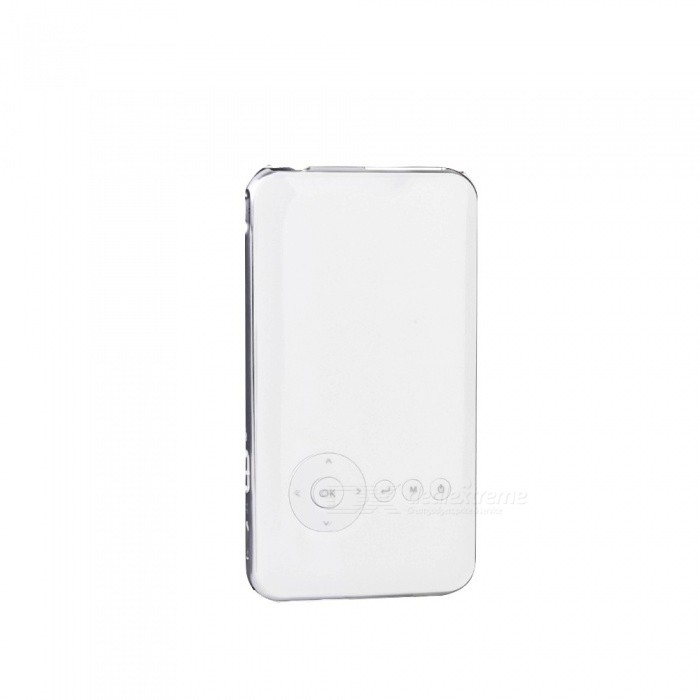 5000mAh Mini Pocket Projector DLP Wi-Fi Portable Handheld Smartphone Projector Android Bluetooth Projector Silver