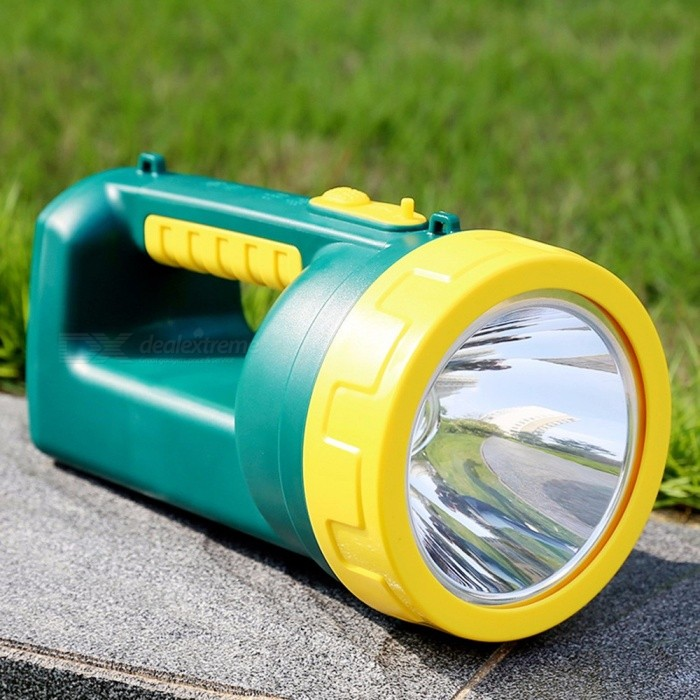 YG-H101 3W Outdoor Handheld LED Light Handlamp Ultrabright Camping Light Rechargeable Flashlight Cold White/Green