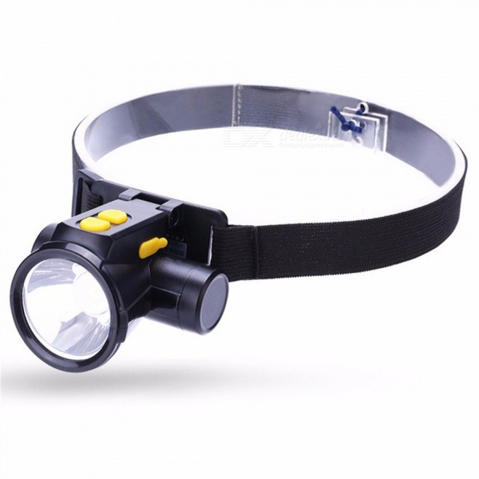 YG-5599 2W LED Headlamp Rechargeable Dual Switches Headlight Torch Outdoor Flashlight For Camping Hunting Fishing Cold White/Black/US