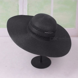 c091d166856 Summer Solid Color Ladies Sun Hats Straw Hats For Women Sunscreen Seaside  Travel Holiday Wide Brim