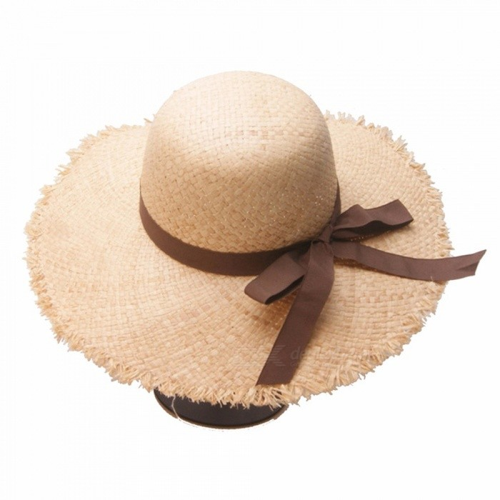 Summer-Floppy-Raffia-Straw-Hats-Foldable-Beach-Hats-For-Women-Female-Wide-Brim-Sun-Hat-For-Vacation-Travel-Khaki