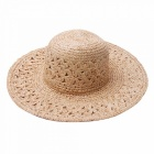 Stylish-Summer-Casual-Handmade-Crochet-Hat-For-Women-Raffia-Straw-Hat-Wide-Brim-Sun-Hat-For-Beach-Vacation-Travel-Khaki