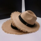 Stylish-Unisex-Summer-Casual-Hat-For-Women-Men-Raffia-Straw-Hat-Wide-Burr-Brim-Sun-Hat-For-Beach-Vacation-Travel-Tan