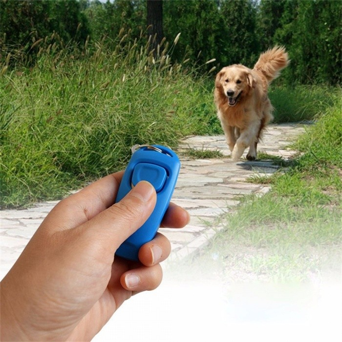 2-in-1 Dog Training Whistle Clicker Pet Dog Trainer Aid Guide Dog Supplies