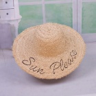 Stylish-Summer-Casual-Embroidery-Letters-Floppy-Hat-For-Women-Straw-Wide-Brim-Sun-Hat-For-Beach-Vacation-Travel-Tangerine