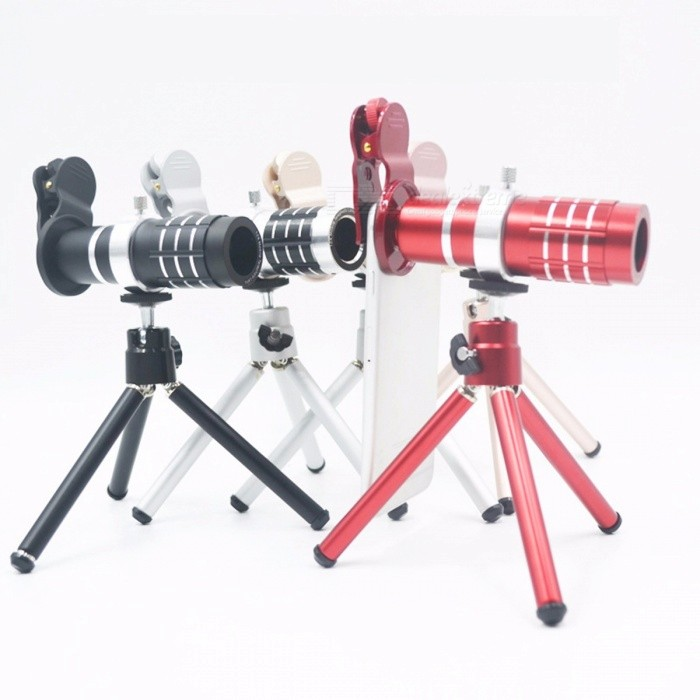 12X Universal Cell Phone Telephoto Lens With Tripod Set For IPHONE, Samsung, HTC, Zoom Lens Telescope Camera Lens