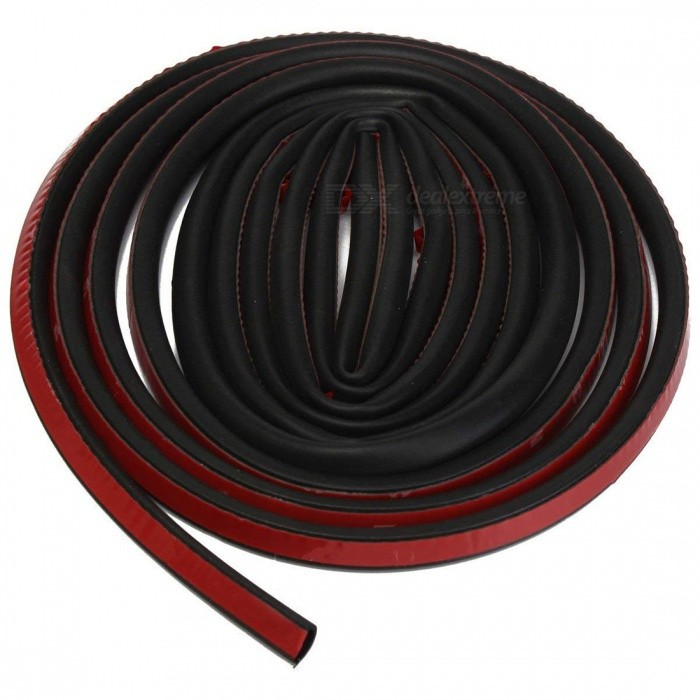 CARKING 5m Long D Shape Car Door Window Self Adhesive Rubber Seal Weather Strip - Black