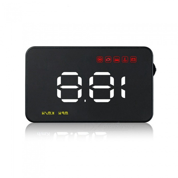 A1000 Car HUD Head Up Display OBD2 II EUOBD Overspeed Warning System Projector Windshield Auto Voltage Alarm