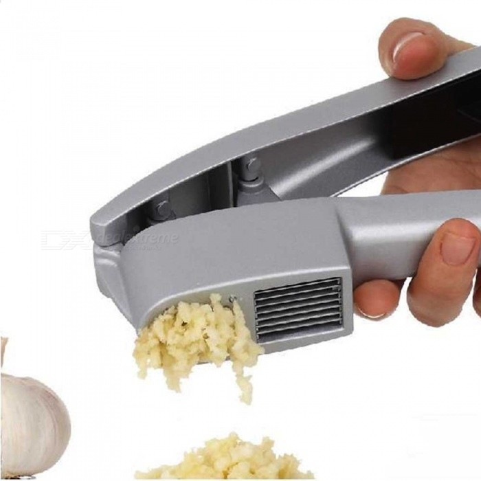 Aluminum Alloy Multi-purpose Dual-use Garlic Pressing Gadgets Smasher - Silver