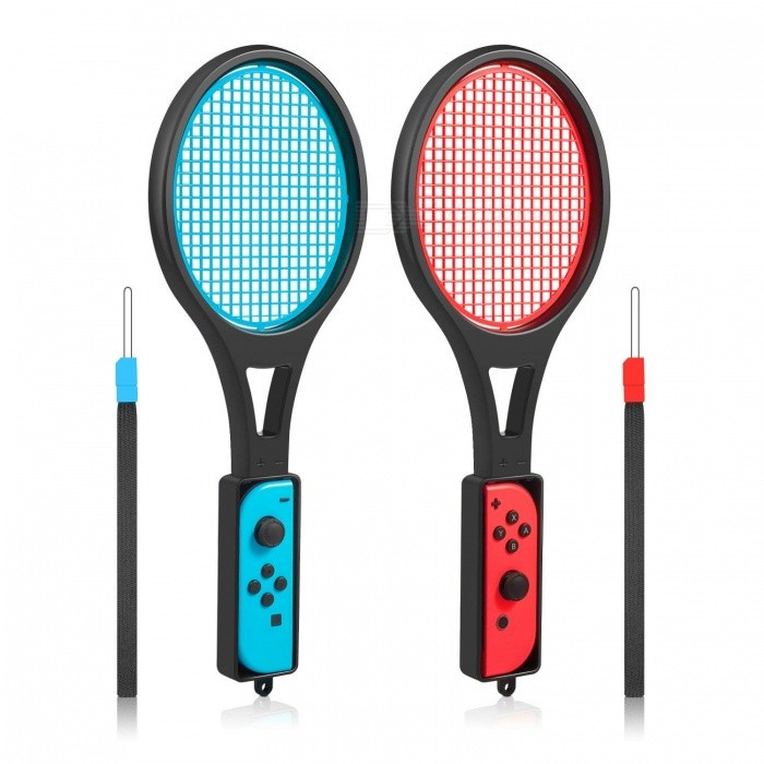 GameWill Tennis Racket for Nintendo Switch - Tennis Racket for Joy-Con Controllers for Switch Mario Tennis Aces Game (2Pcs)