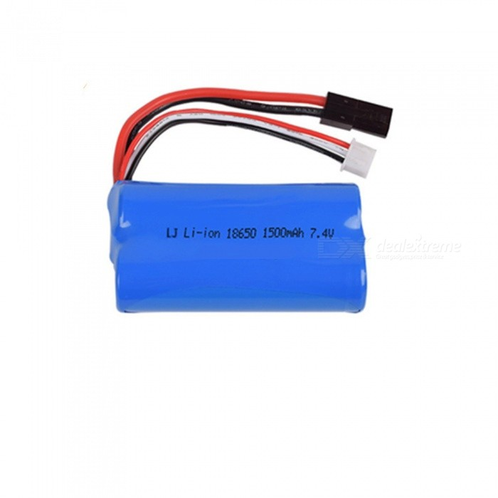 7.4V 1500mAh Li-ion Battery, 5500-2P 18650*2 Rechargable Battery for Remote Control Car Boat Drone - Blue
