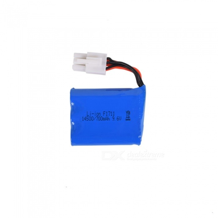 9.6V 700mAh 15C Li-ion Battery, EL-6P 14500*3 Rechargable Battery for Remote Control Car Boat Drone - Blue