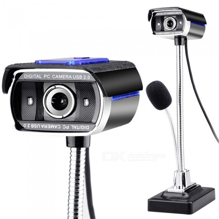 F11 Drum Enhanced Version HD Network Computer Camera, USB Monitor with Microphone - Black