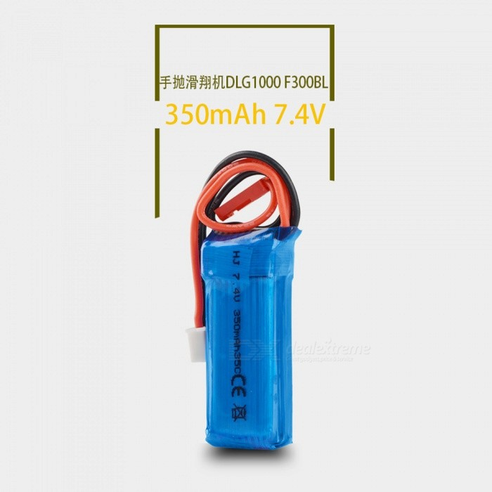 2S 7.4V 350mAh 35C Lipo Battery for Mini RC Helicopter Quadcopter Airplane Model DLG1000 F300BL DTS130