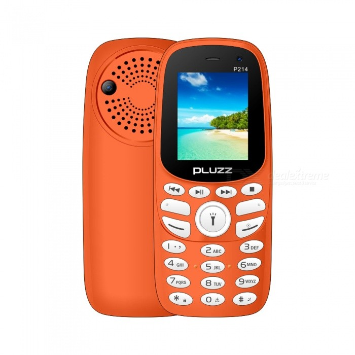 Buy PLUZZ P214 Spreadtrum 6531E F30 BOX Speaker Feature Phone - Orange with Litecoins with Free Shipping on Gipsybee.com