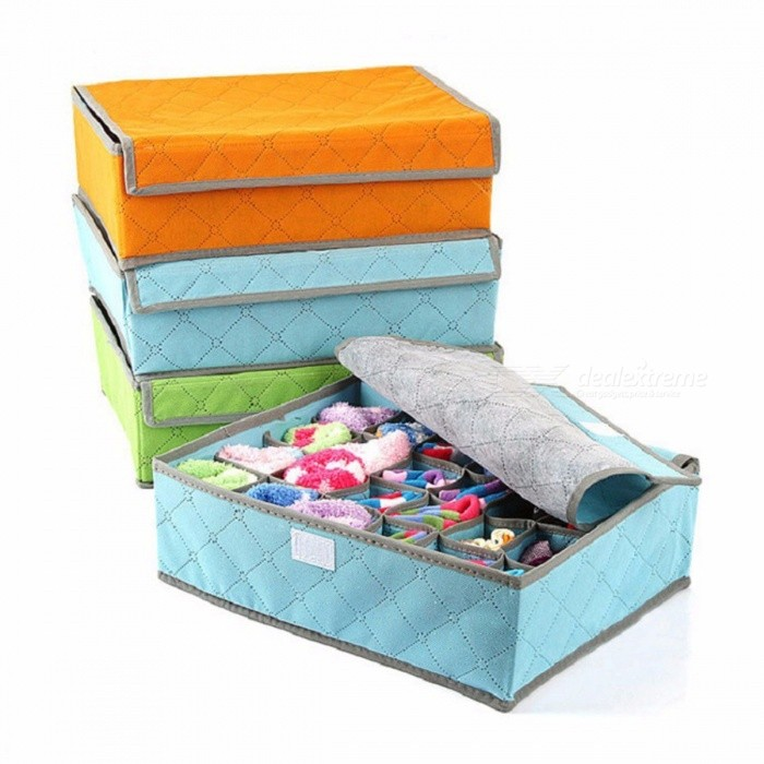 Underwear Bra Organizer Storage Box 3 Colors Bamboo Charcoal Drawer Closet Organizers Boxes For Underwear Socks