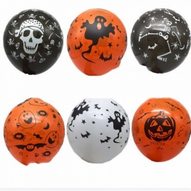 100Pcs-12-Inches-Latex-Balloons-For-Halloween-Party-Decor-Pumpkin-Skull-Ghost-Pirate-Printed-Inflatable-Air-Balloons-Multi