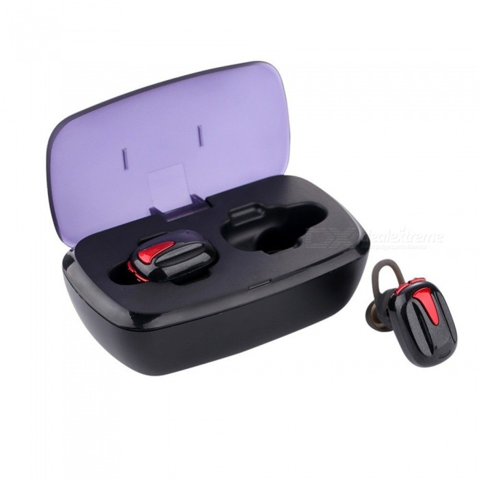 TWS-K8 Mini Dual Wireless Bluetooth V4.2 Earbuds, In-Ear Earphone Built-in Mic With Portable Charging Box
